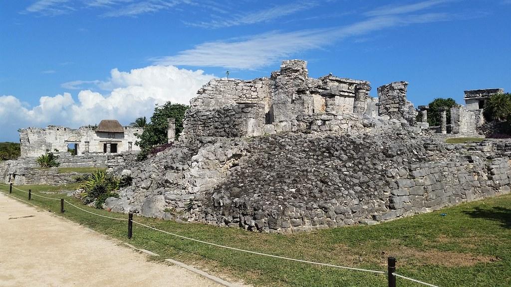 Ruiny miasta Majów w Tulum, Meksyk