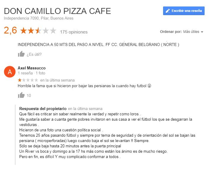 Pizzeria respuestas