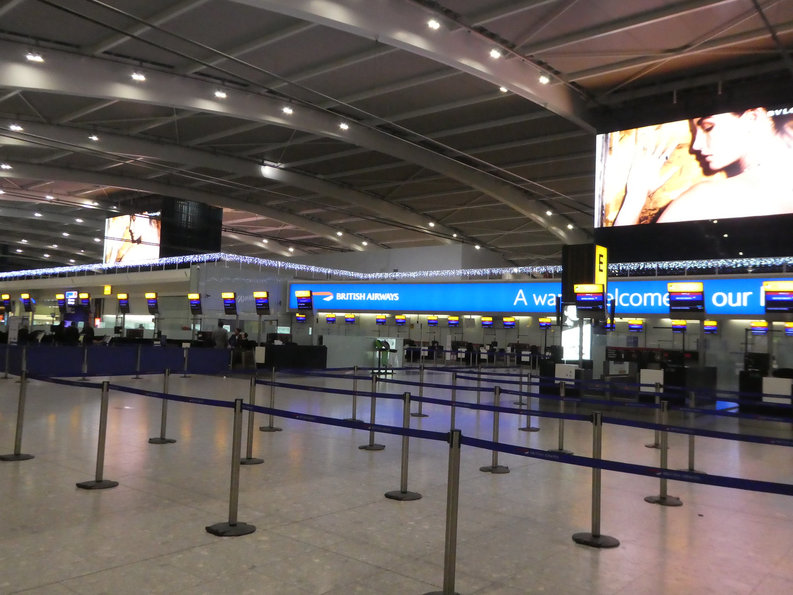 Check-in zone, Terminal 5, Heathrow Airport