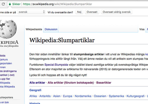Svensk Wikipedia - Slumpartiklar