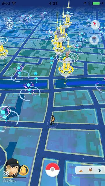 鳥取市内のジムはほぼ黄色