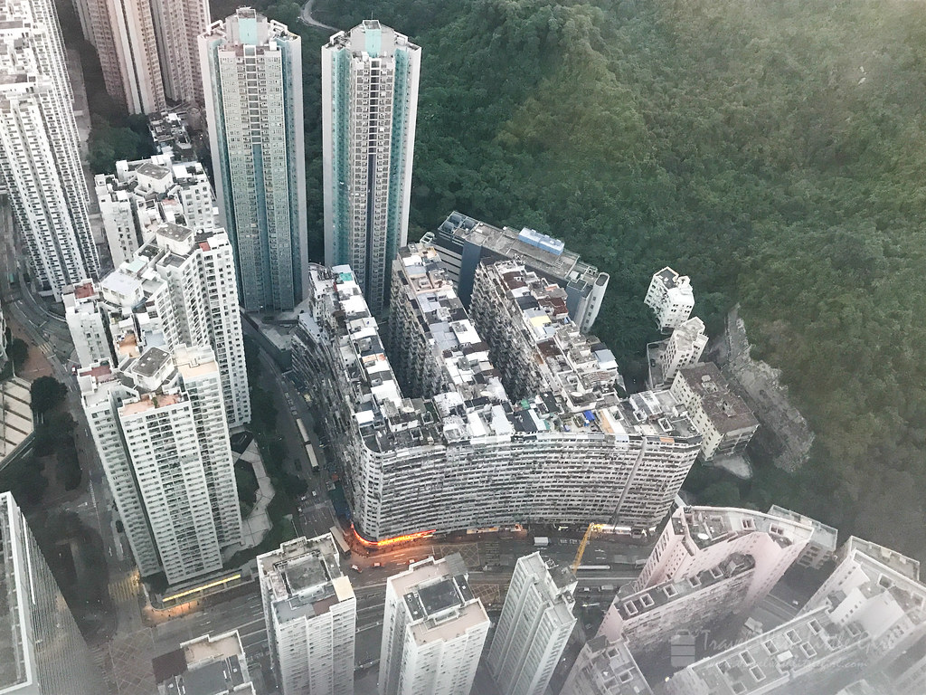 Top view of Hong Kong most Instagram building