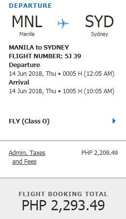 Manila to Sydney Promo June 14
