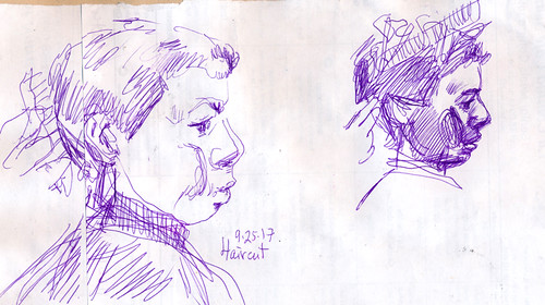 Sketchbook #109: Haircut