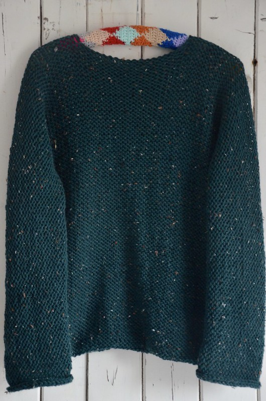 knitted one-piece sweater pattern