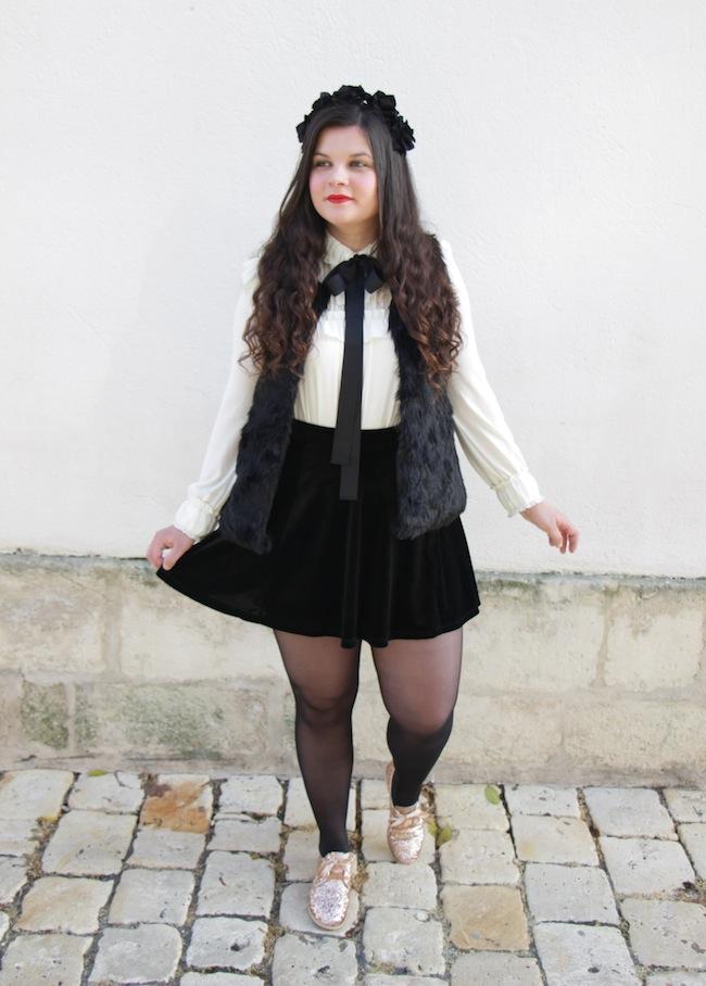 comment_porter_gilet_sans_manches_faux_fur_jupe_velours_conseils_blog_mode_la-rochelle_4