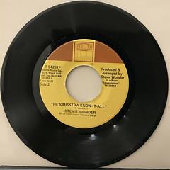 STEVIE WONDER:SIR DUKE(RECORD SIDE-B)