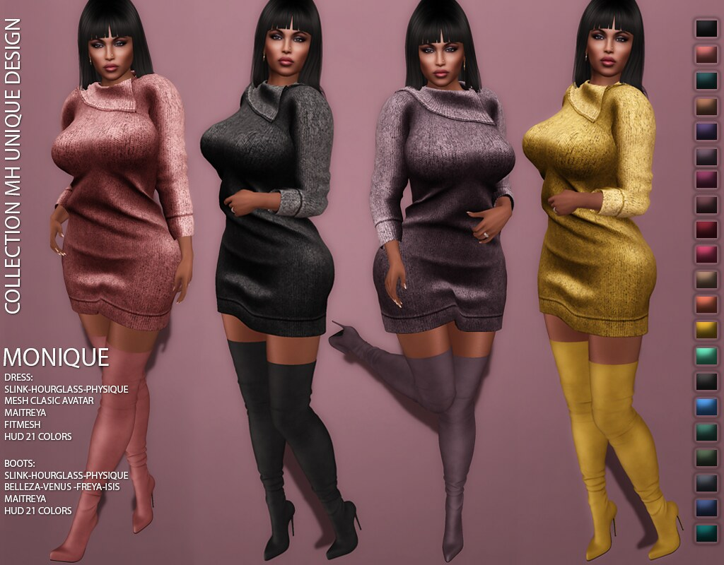 MH-Monique Outfit Collection Dress & Boots - TeleportHub.com Live!