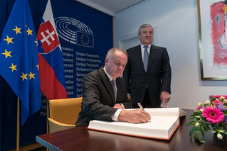 Slovak President Andrej Kiska adresses the Parliament