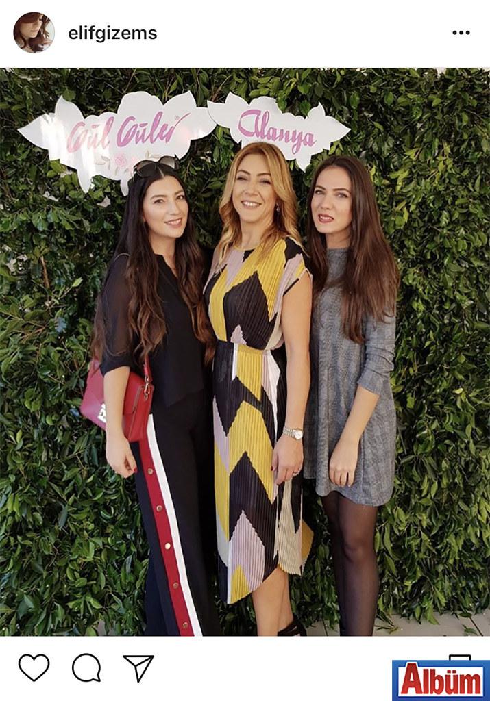 Modacı Gizem Gündoğan, 'Gül Güler' markasını Alanya'ya kazandıran Nursan Yalçın ile, Alanya mağazası açılışından bu fotoğrafı paylaştı.