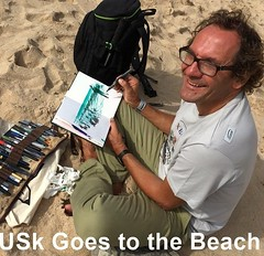 Urban Sketchers goes to the beach!   To read this story, subscribe to Drawing Attention, the official newsletter of USk:   http://urbansketchers.us4.list-manage.com/subscribe?u=dfc36f57fa5fee8d596b5391a&id=e68e24d1e0