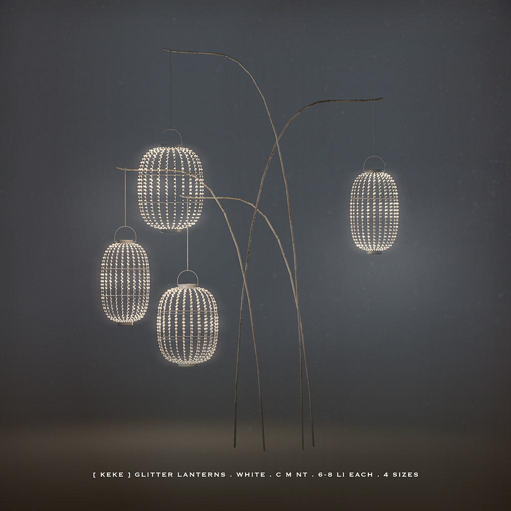 [ keke ] glitter lanterns