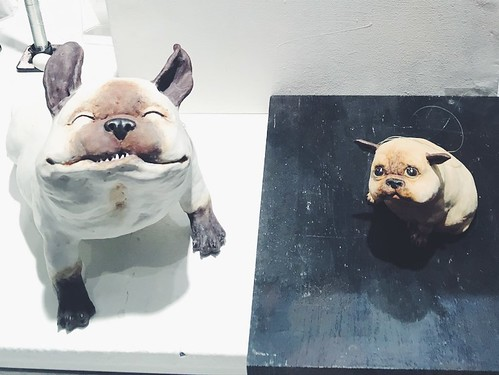 the tribe (fantastic dog sculptures by christina rosén), stockholm, sweden, december 2017