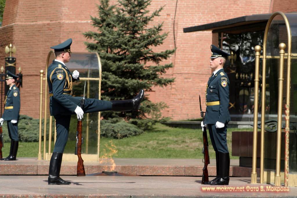Почетный караул у Вечного огня Славы в Москве.  (2)
