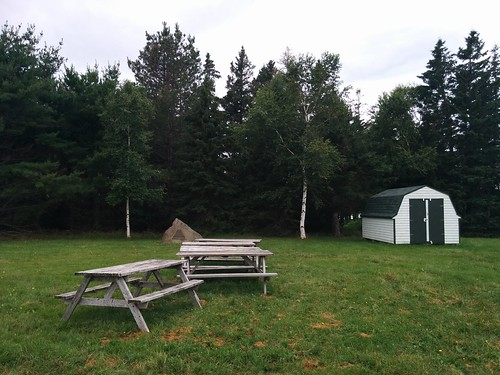 Tables and shed #pei #princeedwardisland #belfast #campbuchan #scouts #northumberlandstrait #latergram