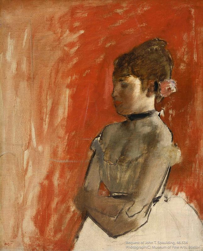 エドガー・ドガ《腕を組んだバレエの踊り子》(1872年頃)ボストン美術館所蔵
