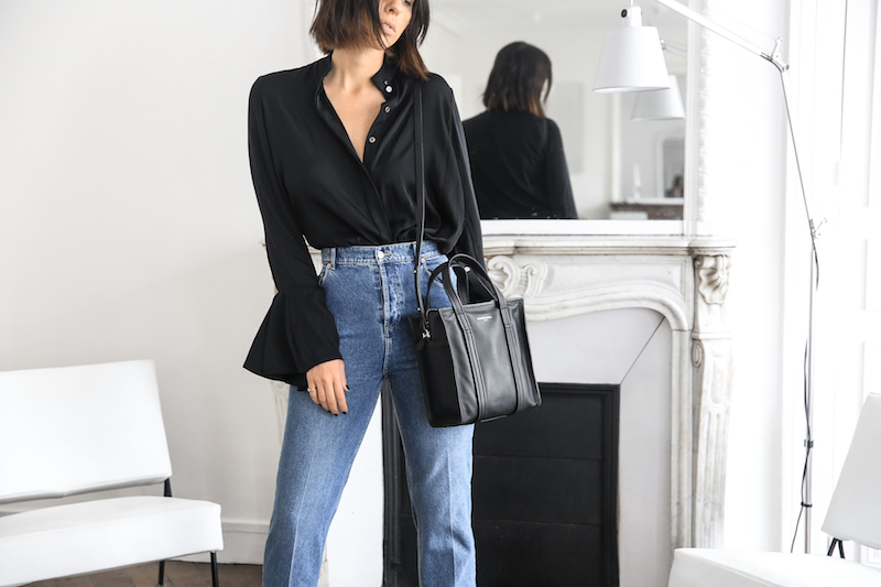balenciaga stirrup high waist mom jeans xs bazar tote bag ellery shirt paris apartment minimal interiors fashion blogger (7 of 7)