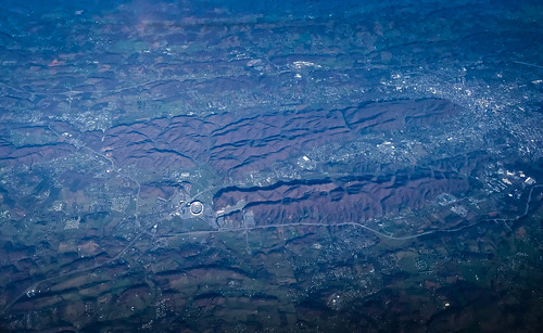 shenandoah valley wytheville virginia unitedstates us va aerial view vista allegheny blueridge mountain mountains range blue ridge tech university lane stadium blacksburg