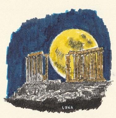 Luna y arte