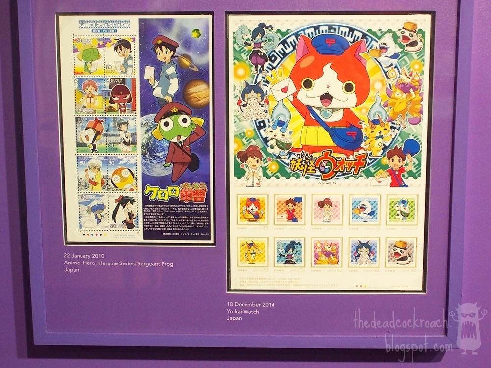 anime, astro boy, chibi maruko-chan, conan, detective conan, doraemon, museum, naruto, philatelic museum, rantarou, singapore, singapore philatelic museum, stamps, studio ghibli, where to go in singapore, japan, japanese animation, stamps,sergeant frog,yokai watch