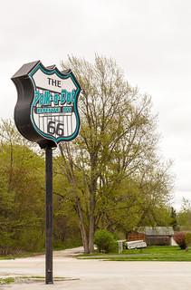 Route 66 Sign, Polk-a-Dot Drive Inn