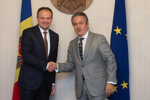 14.11.17Întrevederea președintelui Parlamentului Andrian Candu cu Francis Malige, Directorul BERD, Europa de Est și Caucaz