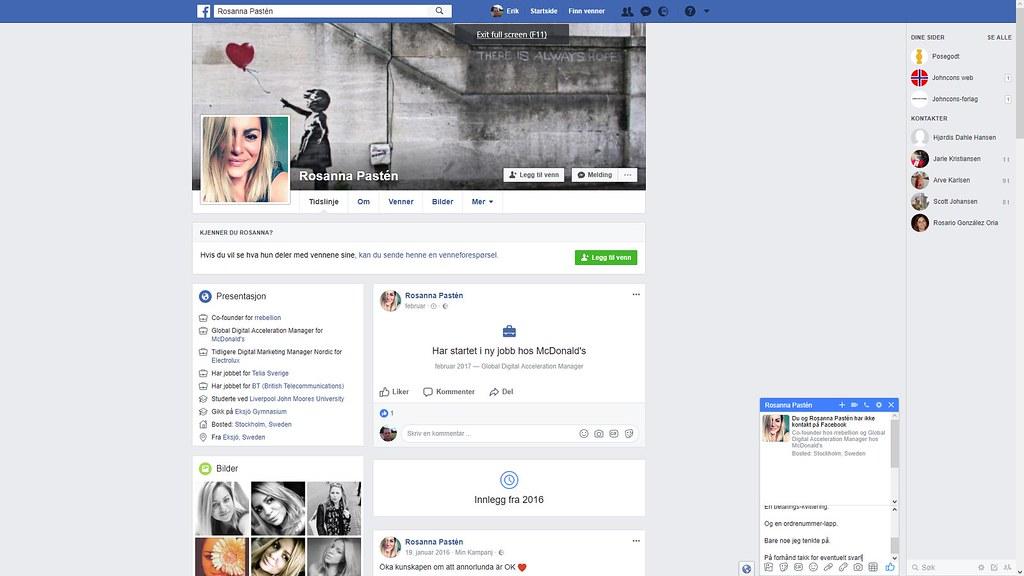 facebook venninne av sophie linvall johnson