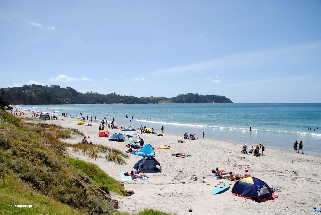 Onetangi Beach, Waiheke, Uusi-Seelanti