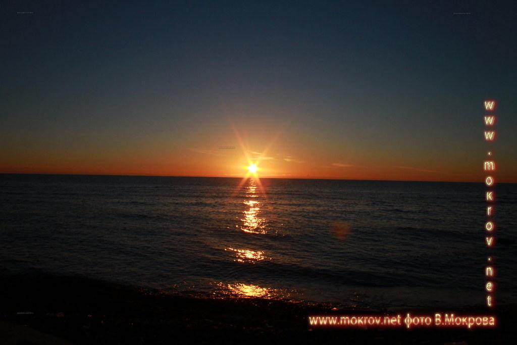 Город Анапа фотографии заката.