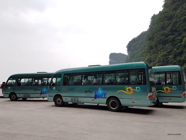 Tianmen Mountain buses