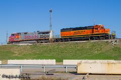 BNSF 620   GE C44-9W   BNSF 1809   EMD SD38P   BNSF Tennessee Yard