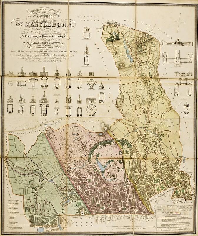 B.R. Davies -Topographical survey of the borough of St. Marylebone (1834)
