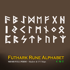 DDDF * Futhark Elven Rune Mesh Alphabet * FULL PERM