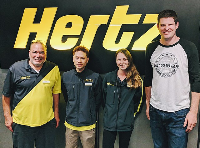 J.J. and the Hertz staff