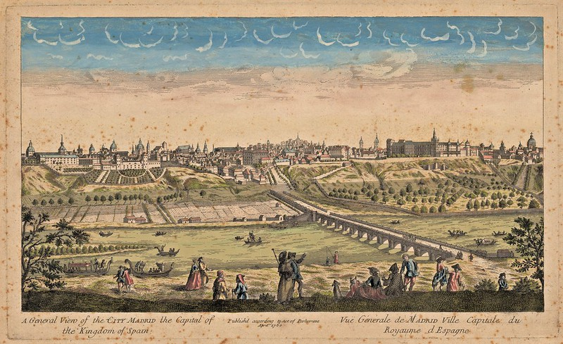 Anonim - A General View of the city Madrid the Capital of the kingdom of Spain (1760)