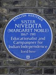 Photo of Margaret Elizabeth Noble blue plaque