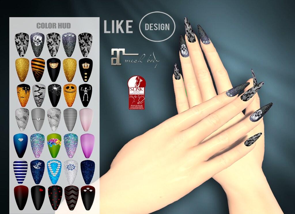 .: LIKE DESIGN :. Bento Pointy Theme Nails (With Color HUD) - TeleportHub.com Live!