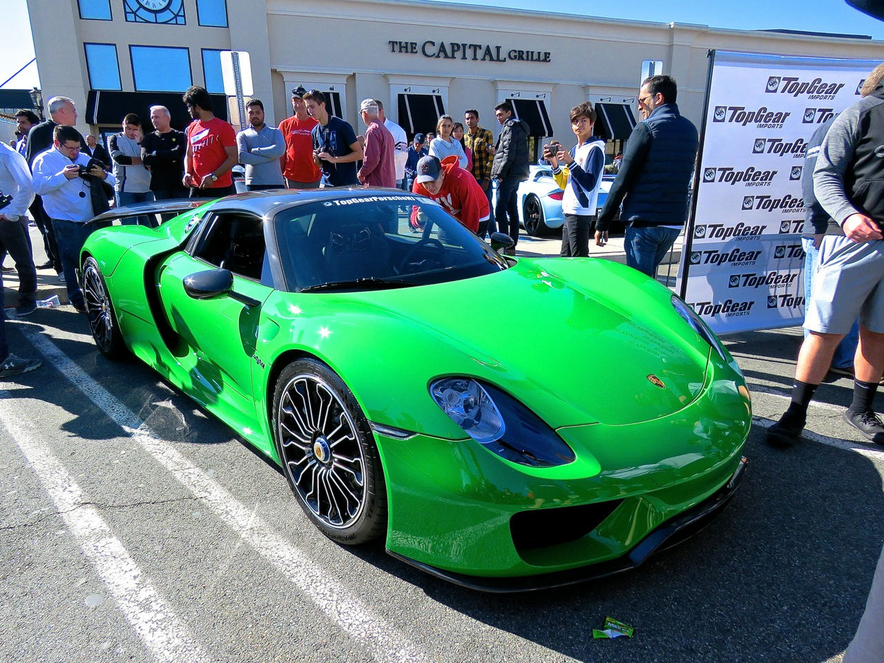 Green Porsche 918 Cars and Caffe 1