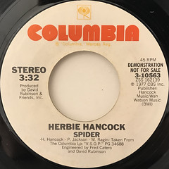 HERBIE HANCOCK:SPIDER(LABEL SIDE-A)