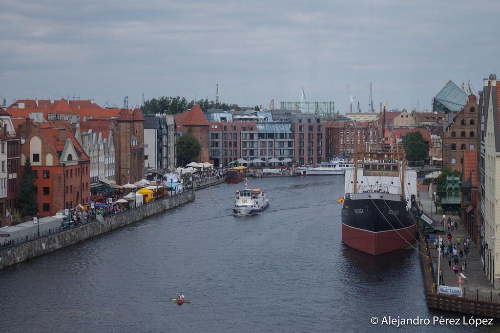 Vista desde la gran noria de Gdansk