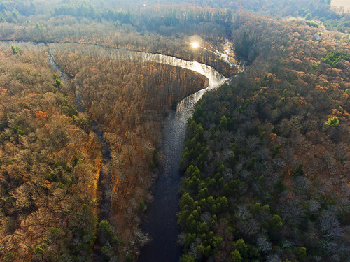 aerialphotography aerial dronephotography drone drones dji djiphantom4 phantom4 beautiful river fish fishing steelhead peace peaceful 2017 wild forest fall autumn december