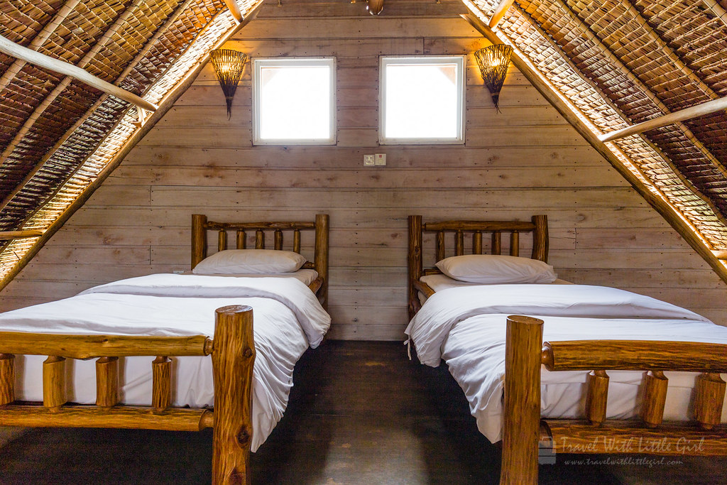 Beds above the master bedroom, Telunas Private Island
