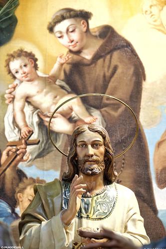 Exposicion de pasos de la Semana Santa de Ejea. Iglesia de Ntra Sra de la Oilva,
