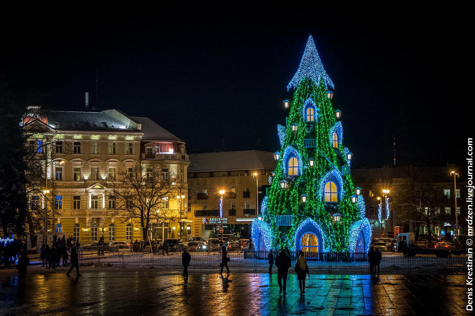 Вильнюс. Кафедральная площадь. Елки 2015