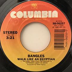 BANGLES:WALK LIKE AN EGYPTIAN(LABEL SIDE-A)
