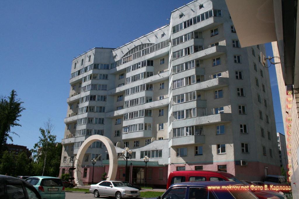 Город Зеленоград с фотокамерой прогулки туристов