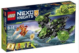 這些外型超誇張的載具又回來啦~~ LEGO 72003 未來騎士系列【狂戰士轟炸機】Berserker Bomber