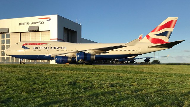 G-BYGF - British Airways 747 @ Cardiff Airport 251117