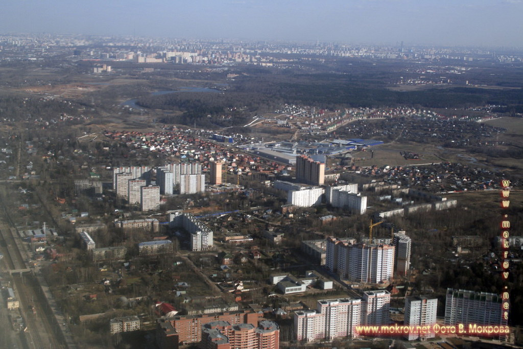 Заход на посадку в Шереметьево.