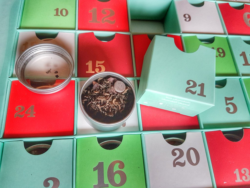 David's Tea Advent Calendar Hot Chocolate Puerh
